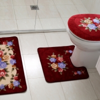 Bathroom Cover and Mat Set