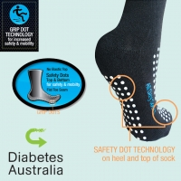 Ultra Grip Diabetic Socks
