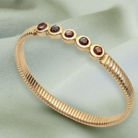 Genuine Garnet Stretch Bracelet