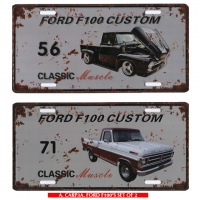 Classic Muscle Cars Vintage Styled Metal Number Plate