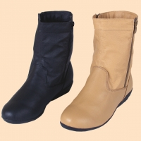 Fleece Lined Leather Boots
