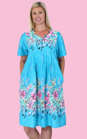 Aqua Border Print Patio Dress  sc 1 st  Health Pride & Health Pride - Aqua Border Print Patio Dress