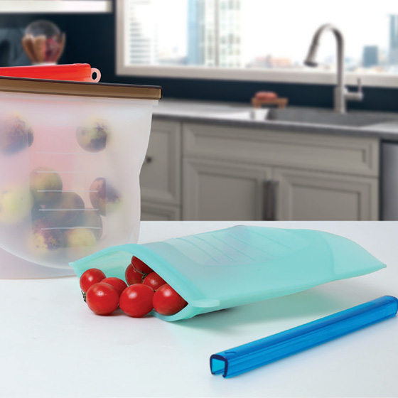 Health Pride Silicone Zip Top Containers