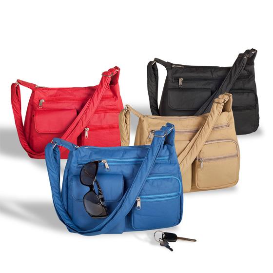 Machine Washable Shoulder Handbag With Multiple Storage