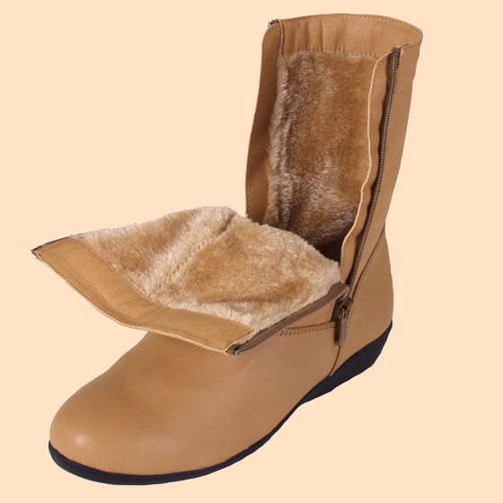 health pride fleece lined leather boots