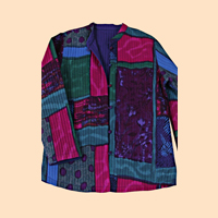 Reversible Jewel Tone Patch Jacket