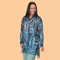 Paisley Georgette Shirt