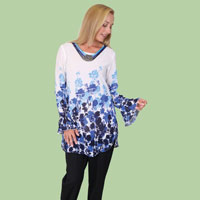 Floral Tunic with Necklace