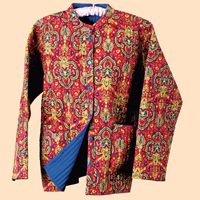Red Paisley Reversible Jacket