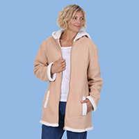 Polar Fleece Zip Up Coat