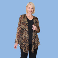 Animal Sheer Print Jacket
