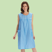 Gingham Zip-Front Housedress