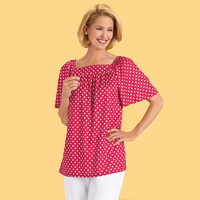 Square Neck Dot Top