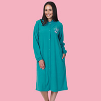 Diamond Fleece Snap Robe